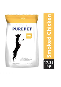 Purepet Smoked Chicken Adult Dog Dry Food, 17.25 kg , 1 kg FREE Inside-Purepet-XOXOtails