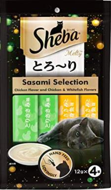 Sheba Melty Premium Cat Snack SASAMI SELECTION 48 G (12G*4)-Sheba-XOXOtails