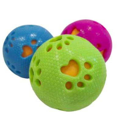 TPR 2 in One Squeaky Ball Toy for Dogs