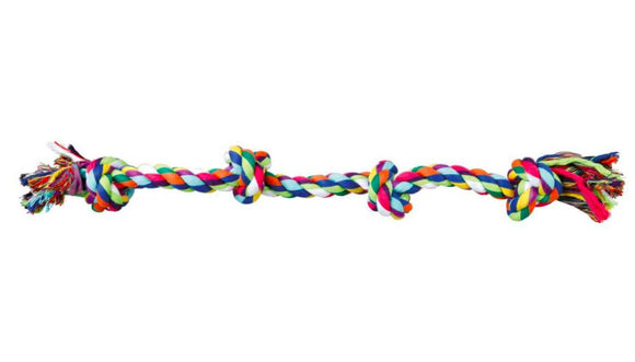 Trixie 4 Knot Rope Toy for Dogs, 54 cm-XOXOtails