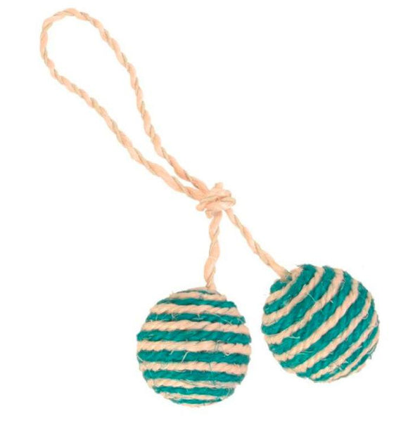 Trixie 2 Balls Rope Cat Toy-XOXOtails