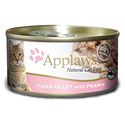 Applaws Natural Cat Tuna Fillet With Prawn Canned Food