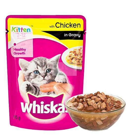 Whiskas Kitten Wet Cat Food, Chicken in Gravy, 85 g-Whiskas-XOXOtails