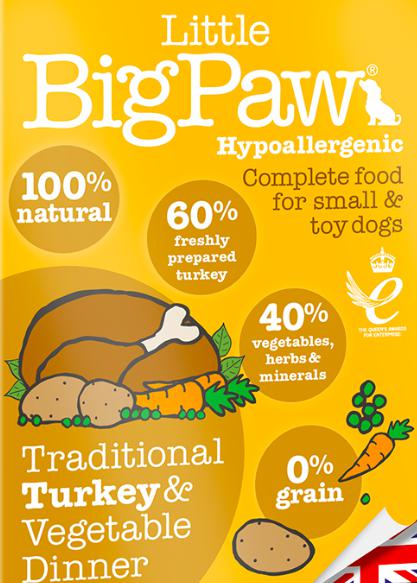 Little Big Paw's Traditional Turkey & Vegetable Dinner, 150 G-Liittle Big Paw-XOXOtails
