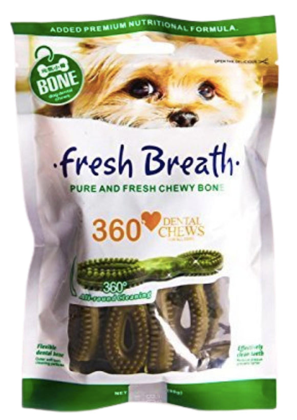 Basil Fresh Breath Dental Dog Chews - 90gm-Basil-XOXOtails