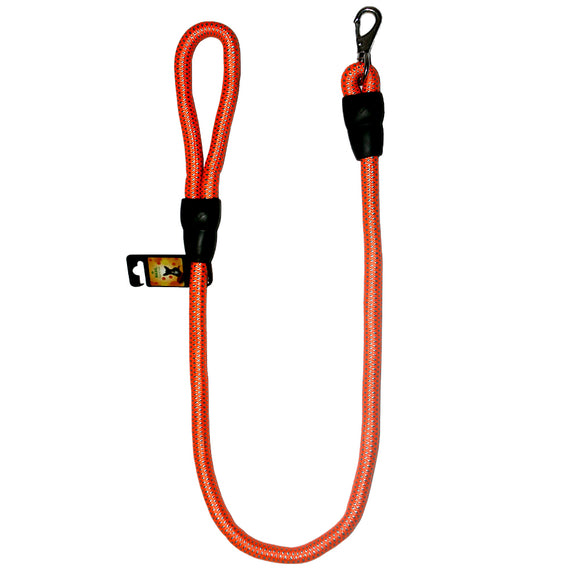 Basics Rope Leash for Dogs, Orange & Turquoise-XOXOtails