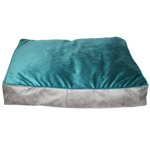 Bella Rectangle Flat Bed, Teal Green-XOXOtails