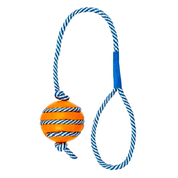 Trixie Ball with PHOSPHORESCENT ROPE Toy for Dog-XOXOtails