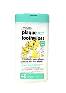 Petkin Plaque Toothwipes, Pack of 40 Wipes-Petkin-XOXOtails