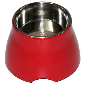 Cocker Elevated Melamine Bowl for Dogs, Red-XOXOtails