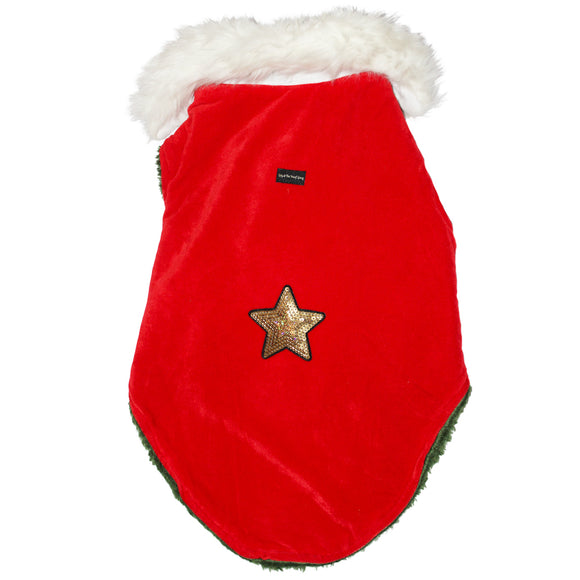 Christmas Winter Jackets for Dogs, Red & White