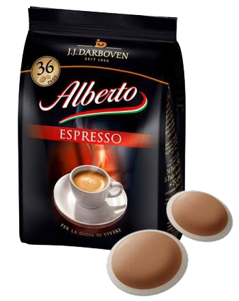 Alberto Espresso 36 soft coffee pads
