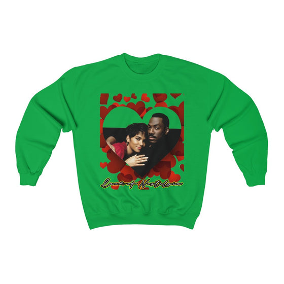 Land of Nostalgia Eddie & Halle Berry Vintage Vibration Unisex Heavy Blend™ Crewneck Sweatshirt