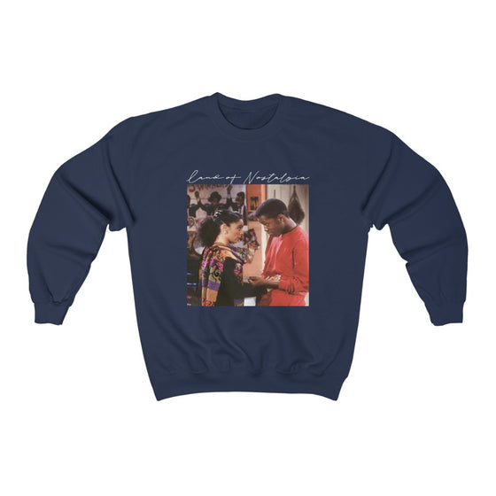 Land of Nostalgia Unisex Heavy Blend™ A Different World Dwayne & Whitley Crewneck Sweatshirt V3