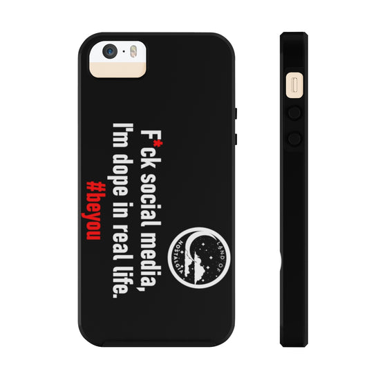 Land of Nostalgia F*ck Social Media Durable Tough Phone Cases