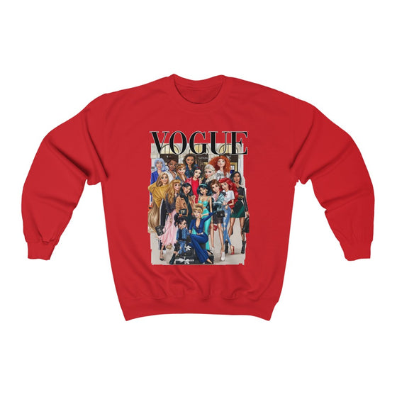 Land of Nostalgia Vogue Disney Princesses Unisex Heavy Blend™ Crewneck Sweatshirt