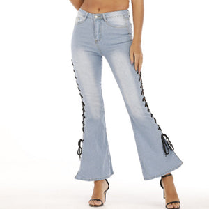 Land of Nostalgia Wide Leg Denim Pants Women's Sexy Flare Jeans