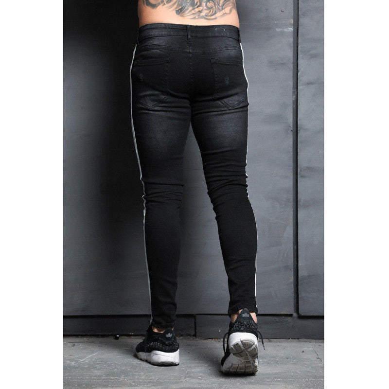 Land of Nostalgia Transcend Skinny Jeans with White Side Stripe