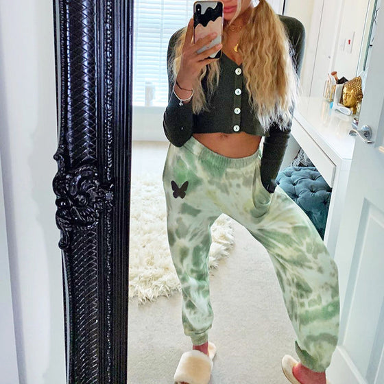Land of Nostalgia Loose Casual Tie Dye Trousers Women's Jogger Sweatpants
