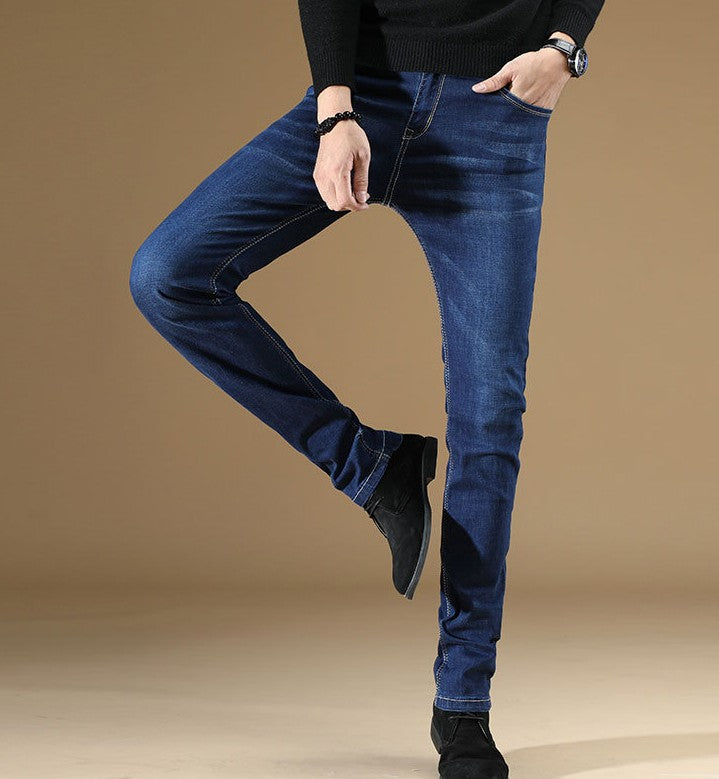 Lands of Nostalgia Wholesale Casual Office Regular Trousers Straight Pants Business Denim Men Jeans