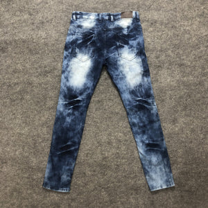 Land of Nostalgia Washed Fabrics Jean || Patch Vintage Denim Jeans || men trousers