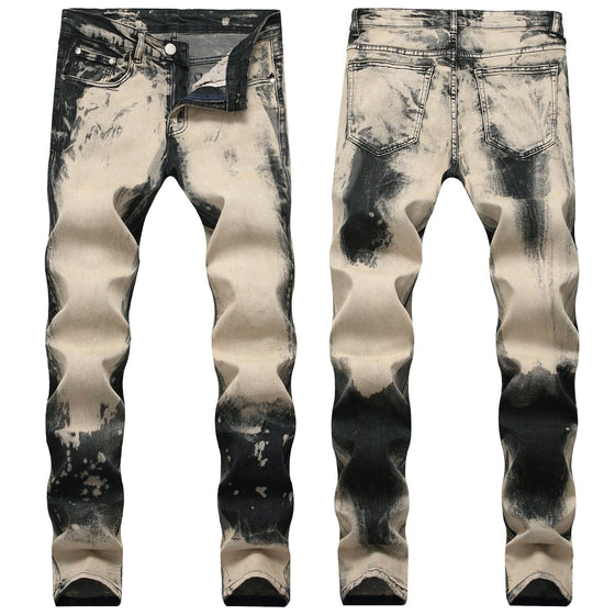 Land of Nostalgia Men's Trousers Pantalones Straight Pants Denim Jeans