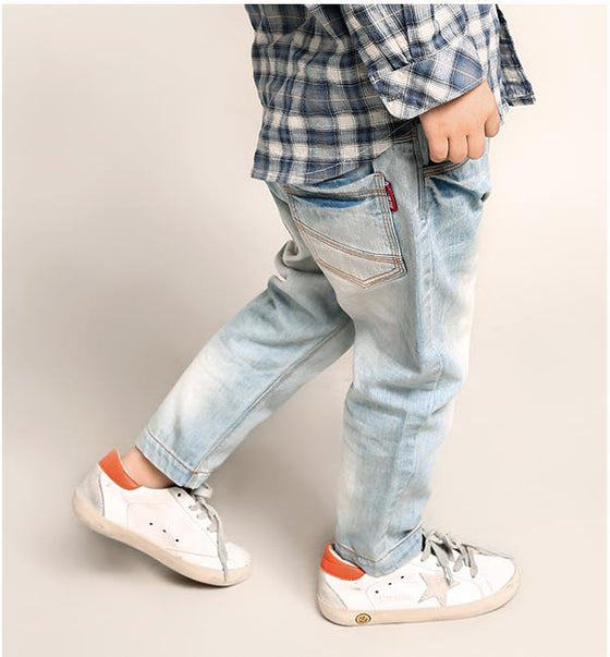 Land of Nostalgia Toddler Kids Super Soft Cotton Denim Trousers Jeans (0-6T)