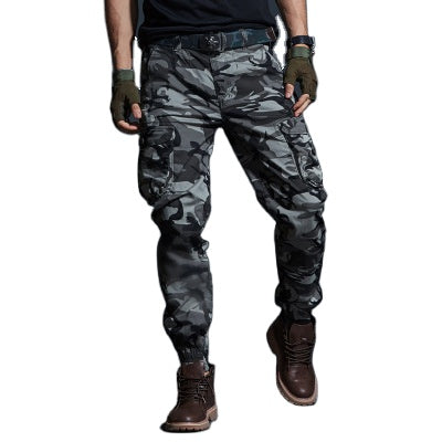 Land of Nostalgia Multi-Pocket Military Tactical Army Joggers Men's Casual Cargo Camouflage Trousers