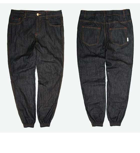 Land of Nostalgia Casual Hip Hop Men's Denim Loose Jogger Pants