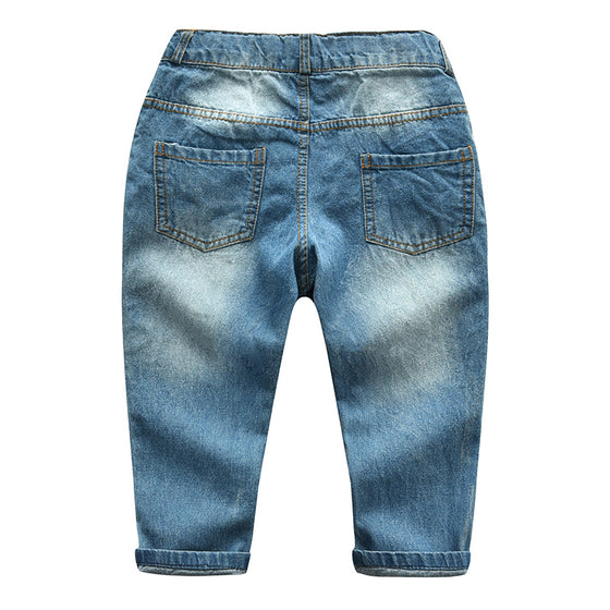 Land of Nostalgia Boys Girls Long Cowboy Cotton Denim Trousers Pants (2-7T)