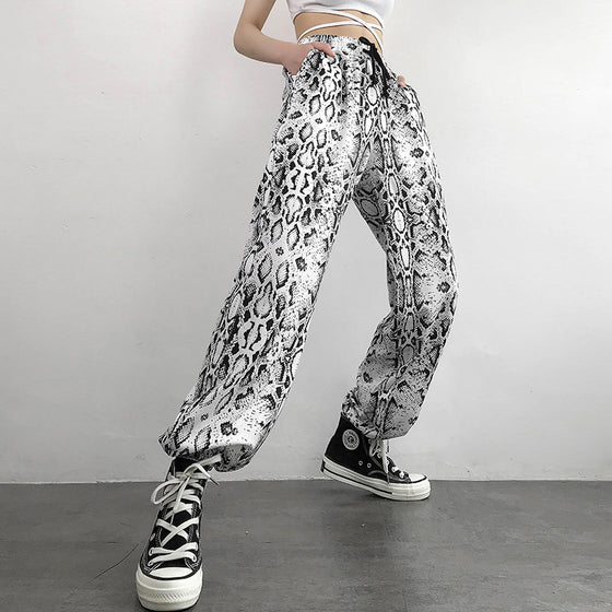 Land of Nostalgia High Elastic Waist Women's Casual Trouser Joggers Prints Pants
