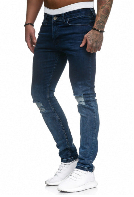 Land of Nostalgia Men's Trousers Pants Ripped Skinny Jeans