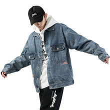 Land of Nostalgia Men's Plus Size Loose Streetwear Harajuku Jacket