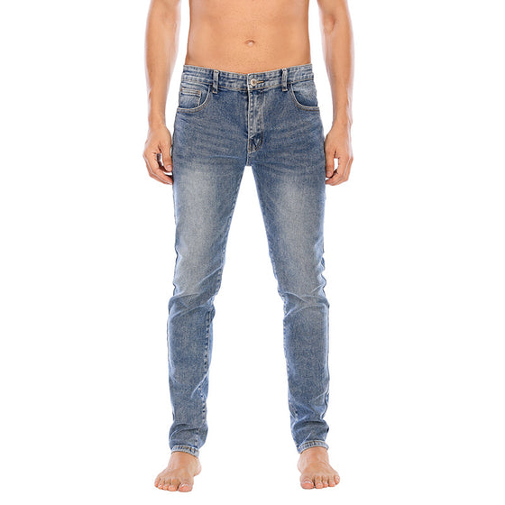 Land of Nostalgia Men's Skinny Trousers Slim Fit Denim Jeans