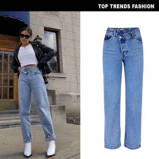 Land of Nostalgia High Waist Flare Denim Bell Bottom Women's Skinny Jeans