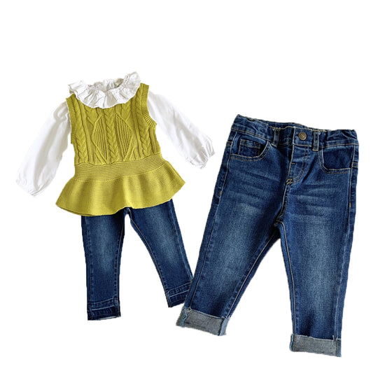 Land of Nostalgia Girls Toddler Skinny Denim Kids Jeans (1 - 6 Yrs)