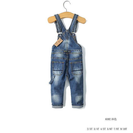 Land of Nostalgia Boys Girls Casual Trousers Overalls Denim Jeans