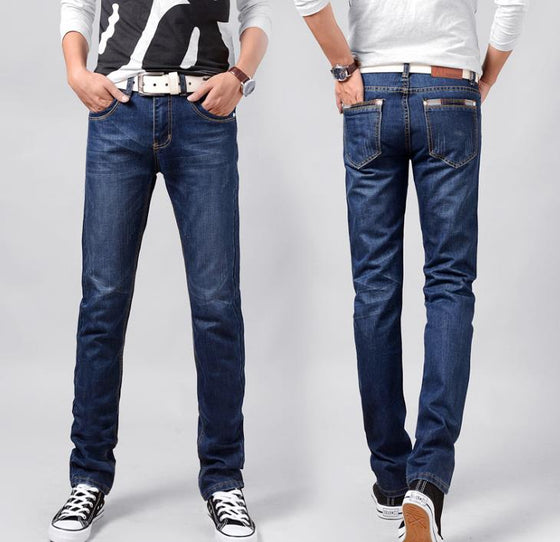 Land of Nostalgia Loose Casual Regular Trousers Straight Men Denim Jeans