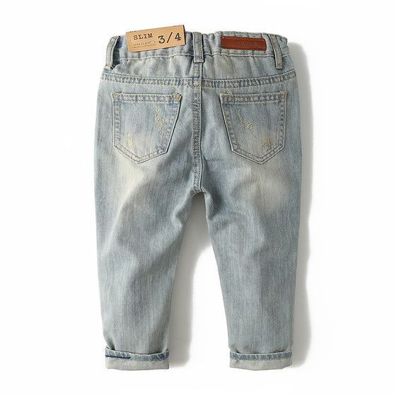 Land of Nostalgia Boys Distressed Ripped Denim Jeans (2-10T)