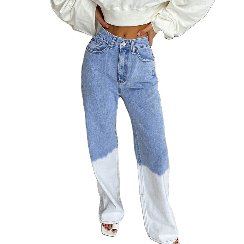 Land of Nostalgia High Waist Women's Wide Leg Casual Streetwear Trousers Jeans Pants