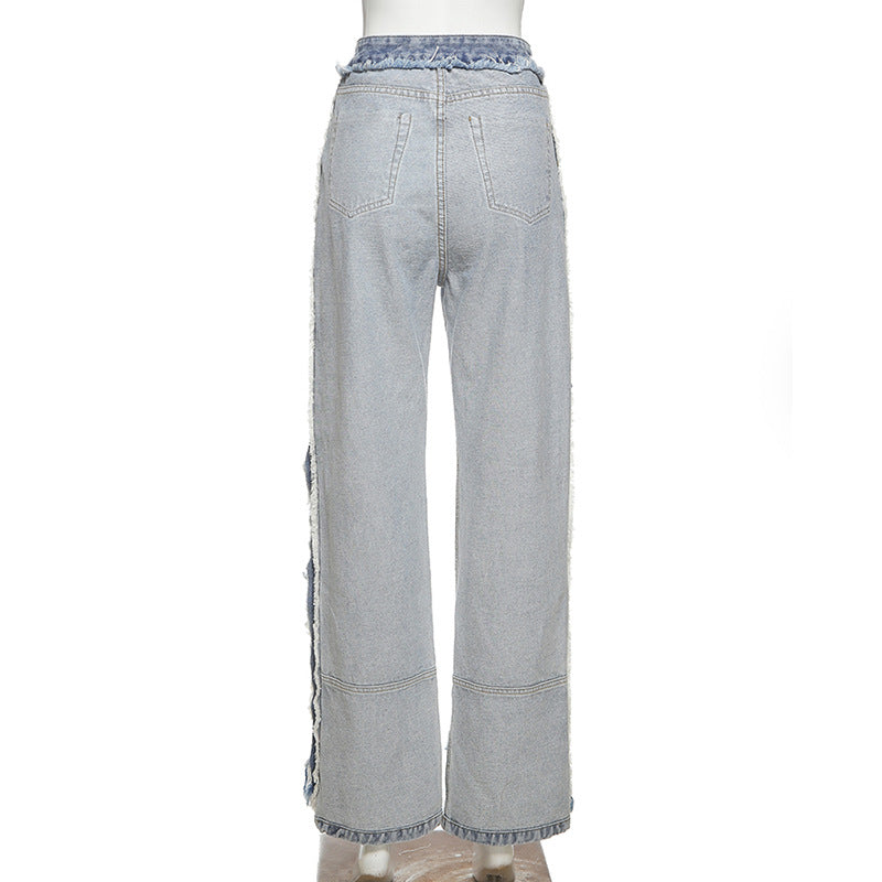 Land of Nostalgia High Waist Bell Bottom Stacked Fashion Women's Denim Jeans