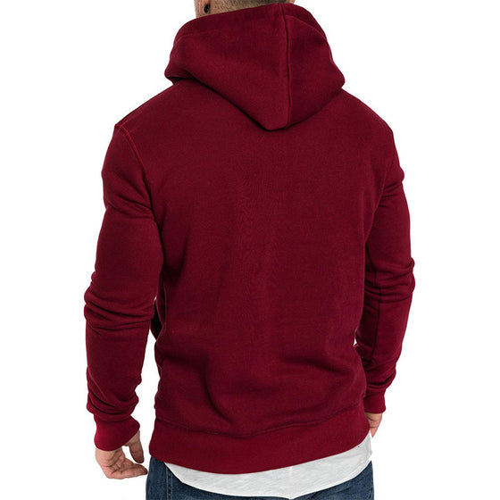 Land of Nostalgia Men's Sweatshirt Plain Long Sleeve Hoodies