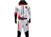 Land of Nostalgia White, Black, & Red Custom Tracksuit