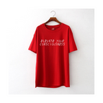 Land of Nostalgia Red Elevate T-Shirt with White Back Logo
