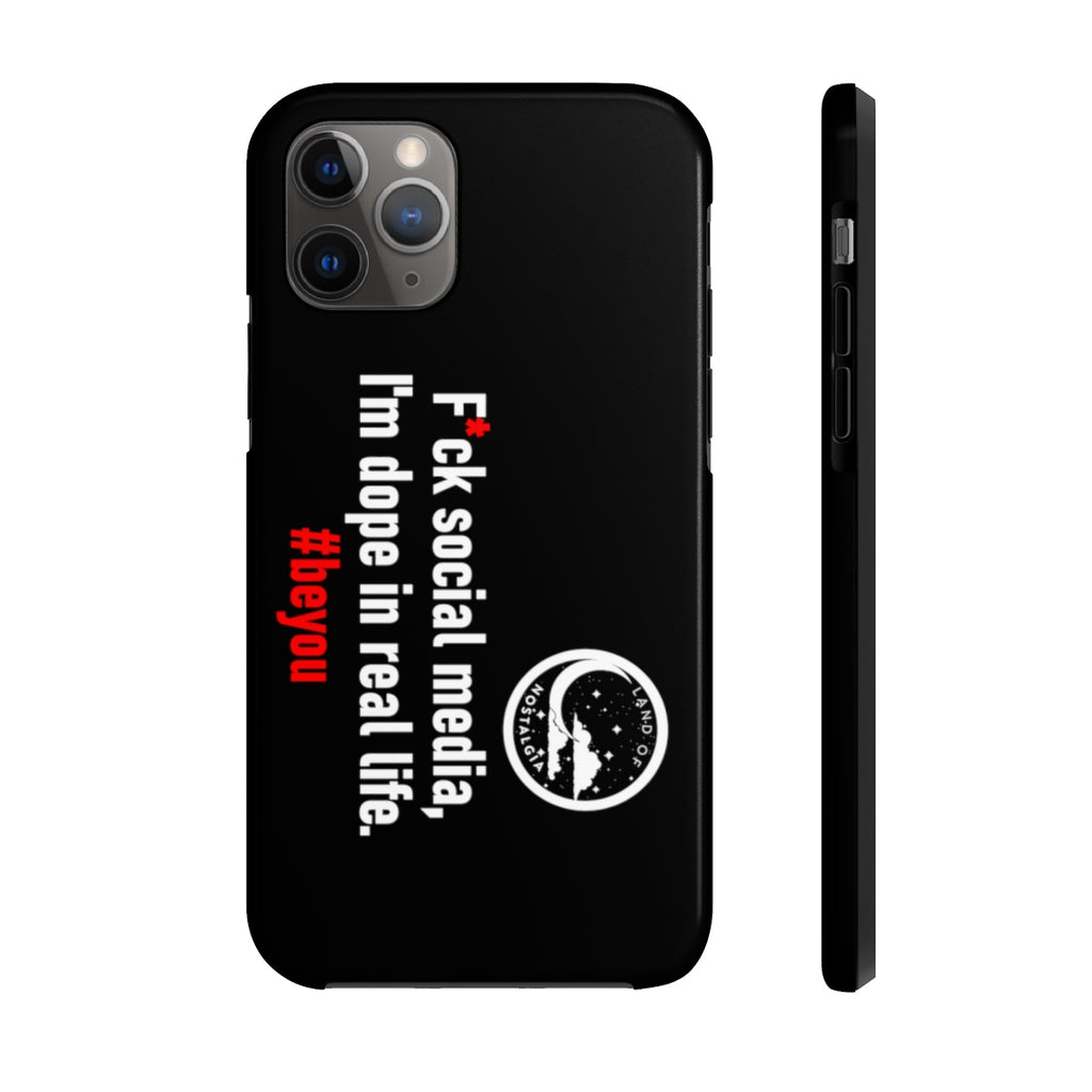 Land of Nostalgia F*ck Social Media Case Mate Tough Phone Cases