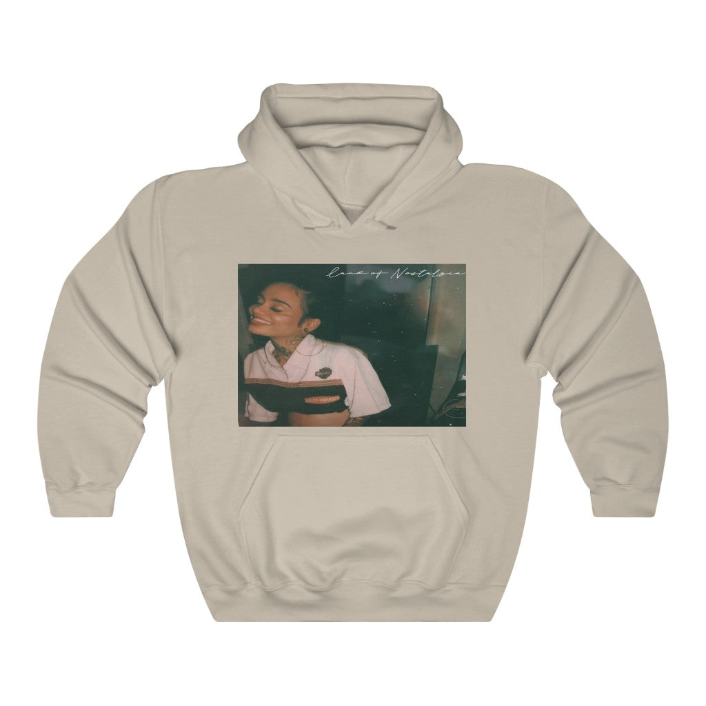 Land of Nostalgia Unisex Heavy Blend™ Hooded Kehlani Smile Sweatshirt