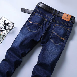 Land of Nostalgia 5-Pockets Men's Casual Straight Business Trousers Jeans