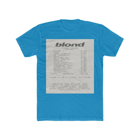 Land of Nostalgia Men's Cotton Crew Frank Ocean Blonde Receipt Tee