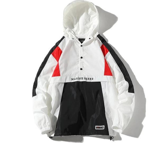 Land of Nostalgia Hooded Pullover Windbreaker Jacket