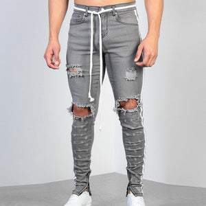 Land of Nostalgia Men's Gray Skinny Jeans